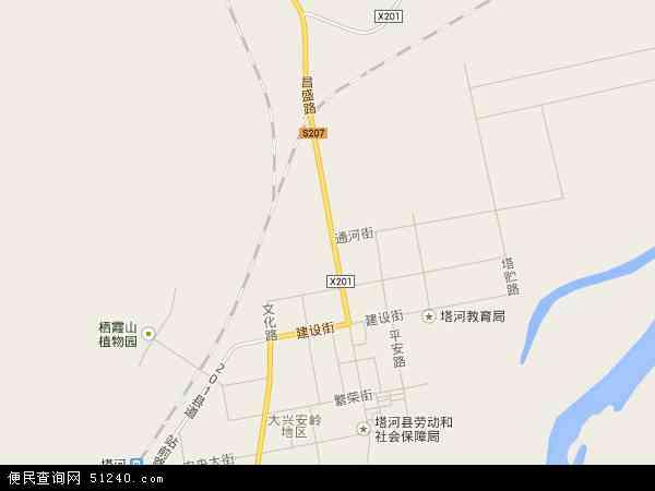 塔河镇地图 - 塔河镇卫星地图