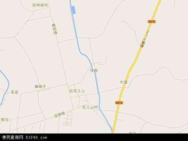 中国辽宁省大连市普兰店市铁西地图(卫星地图)