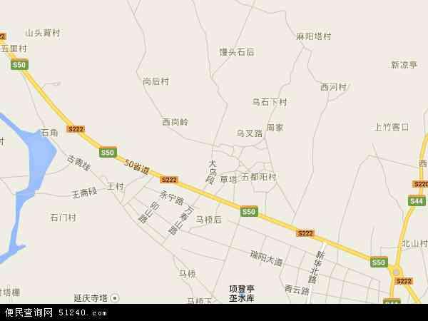 中国浙江省丽水市松阳县望松地图(卫星地图)