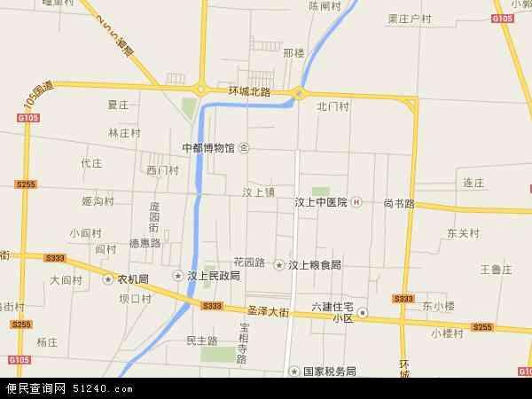 中国山东省济宁市汶上县汶上地图(卫星地图)