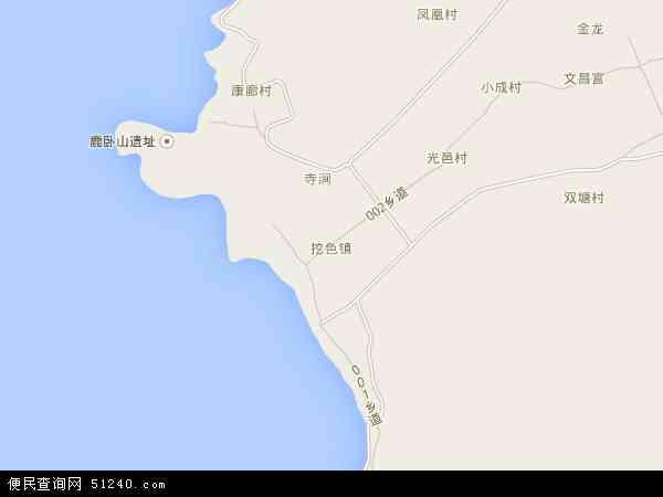 挖色镇地图 - 挖色镇卫星地图 - 挖色镇高清航拍地图