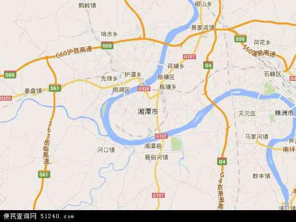 最新湘潭市地图,2016湘潭市地图高清版