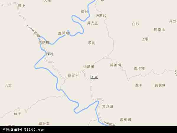 中国广东省河源市龙川县细坳镇地图(卫星地图)