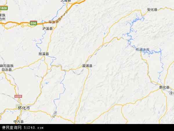 溆浦县地图 - 溆浦县卫星地图