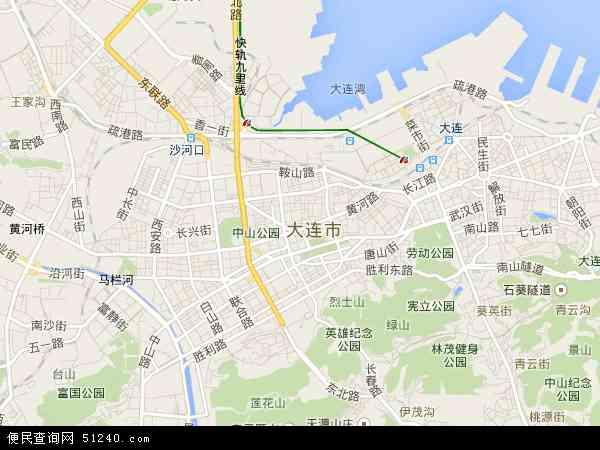 中国辽宁省大连市西岗区地图(卫星地图)