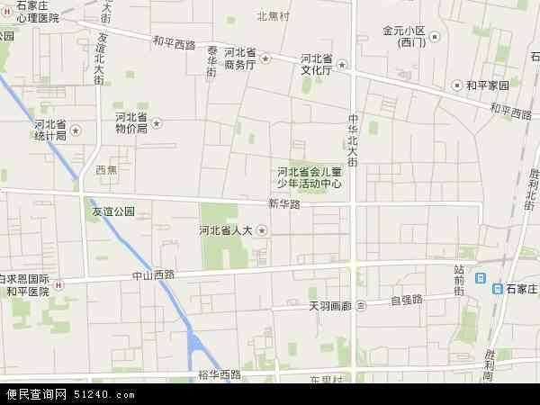 新华路地图 - 新华路卫星地图