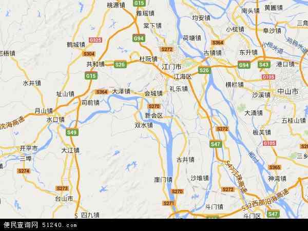 新会区 地图 新会区 卫星地图 新会区 高清航拍图片