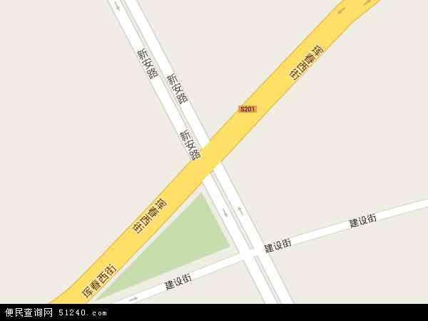 中国吉林省延边朝鲜族自治州珲春市新安地图(