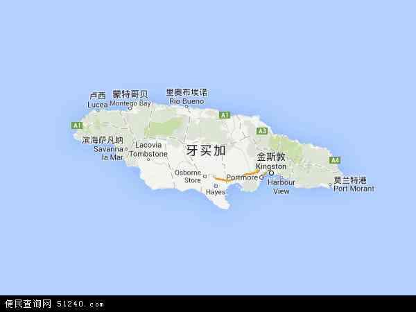 詹姆斯波西_牙买加地图 - 牙买加卫星地图 - 牙买加高清航拍地图