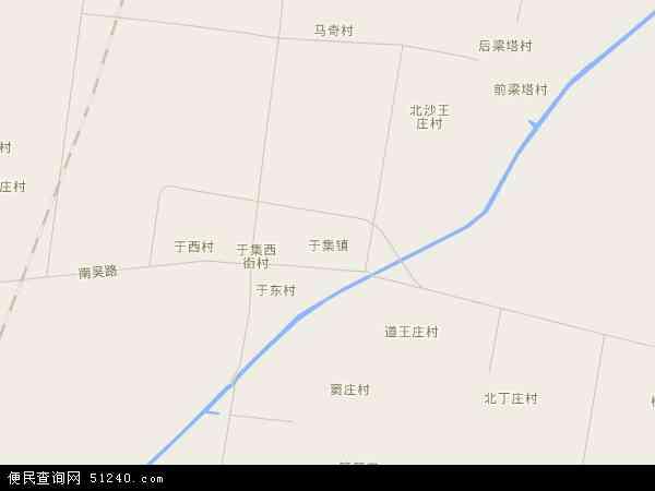 中国河北省沧州市吴桥县于集镇地图(卫星地图)