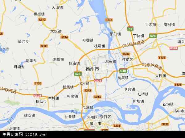 扬州市地图 - 扬州市卫星地图