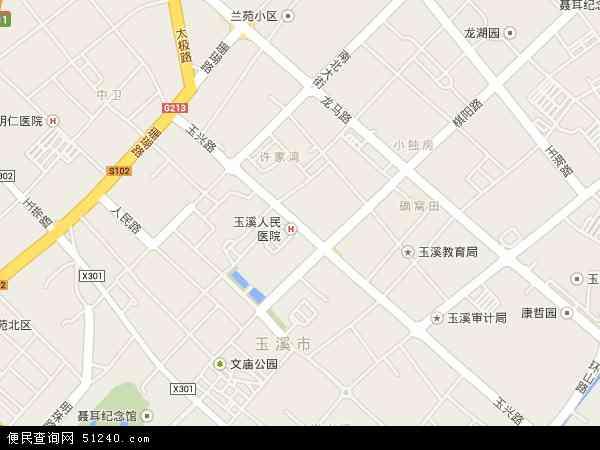 中国云南省玉溪市红塔区玉兴路地图(卫星地图)