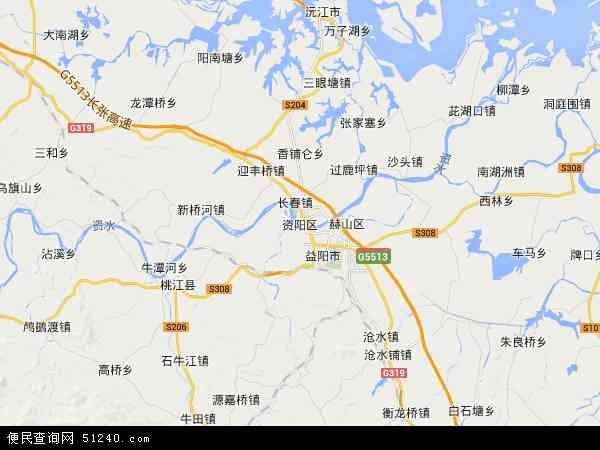 资阳区高清卫星地图 资阳区2017年卫星地图 中国湖南省益阳市资阳