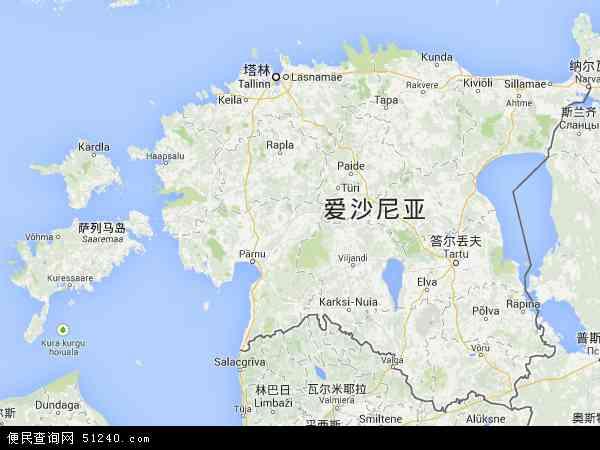 爱沙尼亚地图 - 爱沙尼亚电子地图 - 爱沙尼亚高清地图 - 2016年爱沙尼亚地图