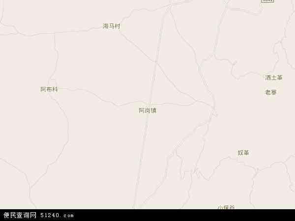 中国云南省曲靖市罗平县阿岗镇地图(卫星地图)