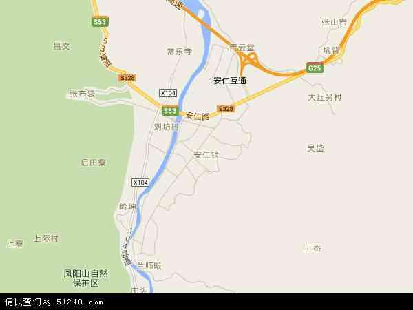 中国浙江省丽水市龙泉市安仁镇地图(卫星地图)