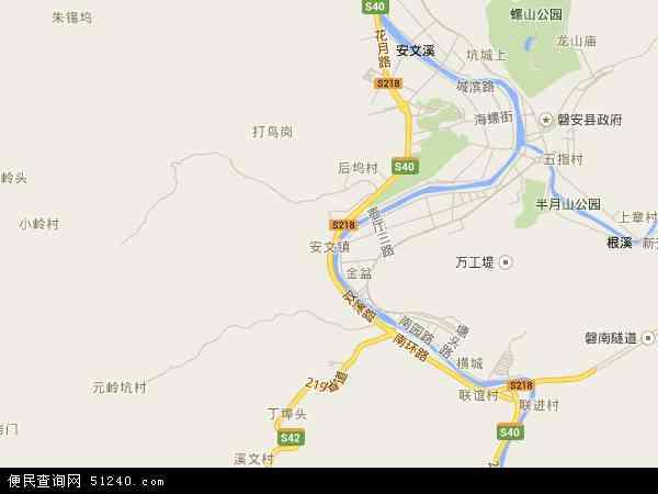 中国浙江省金华市磐安县安文镇地图(卫星地图)