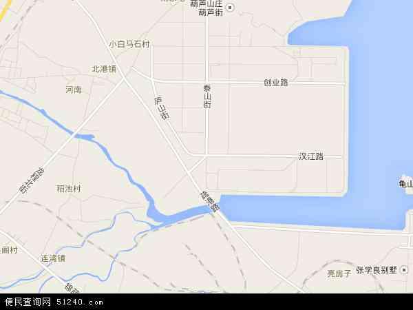 中国辽宁省葫芦岛市龙港区滨海地图(卫星地图)