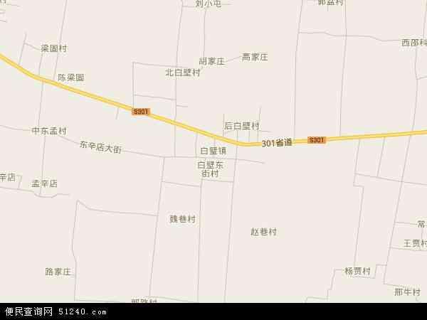 中国河南省安阳市安阳县白璧镇地图(卫星地图)