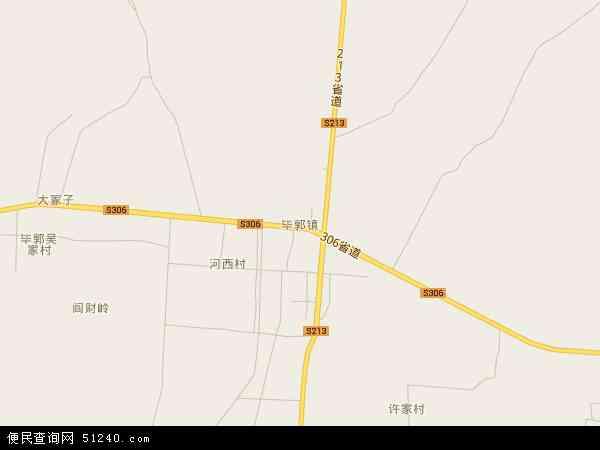 中国山东省烟台市招远市毕郭镇地图(卫星地图)