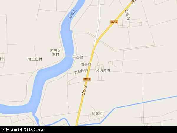 中国山东省滨州市沾化县泊头镇地图(卫星地图)