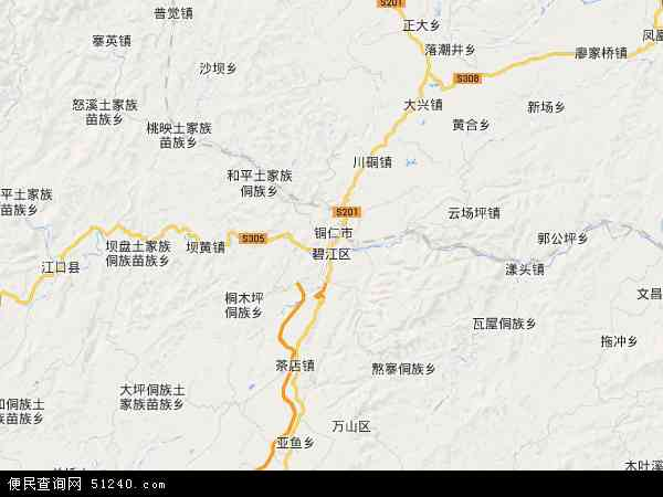 碧江区地图 - 碧江区卫星地图