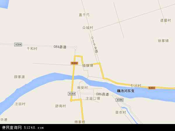 中国湖南省岳阳市华容县插旗镇地图(卫星地图)