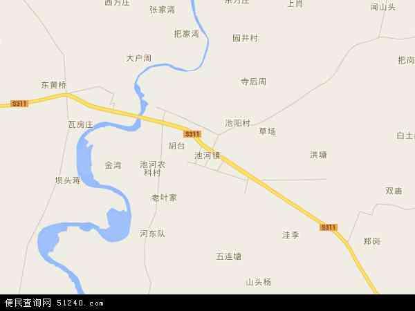 中国安徽省滁州市定远县池河镇地图(卫星地图)