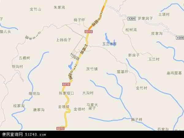 中国重庆市渝北区茨竹镇地图(卫星地图)