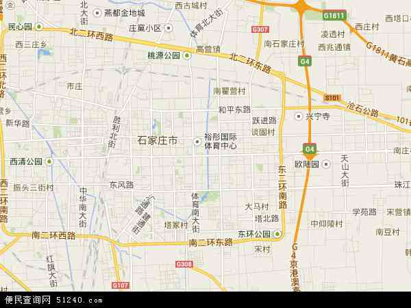 中国河北省石家庄市长安区地图(卫星地图)