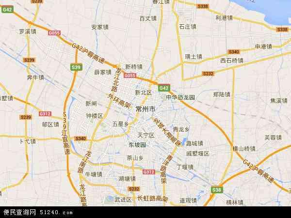 中国江苏省常州市地图(卫星地图)