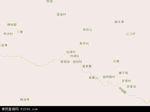 中国贵州省黔东南苗族侗族自治州天柱县地湖乡地图