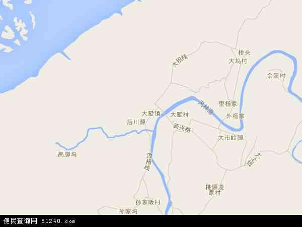 中国浙江省杭州市淳安县大墅镇地图(卫星地图)