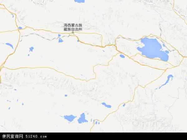 中国青海省海西蒙古族藏族自治州都兰县地图(卫星地图)