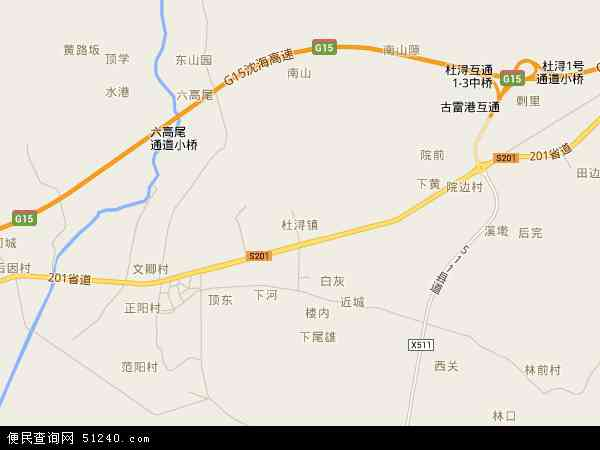 中国福建省漳州市漳浦县杜浔镇地图(卫星地图)