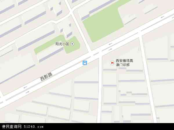 中国陕西省西安市雁塔区等驾坡地图(卫星地图)
