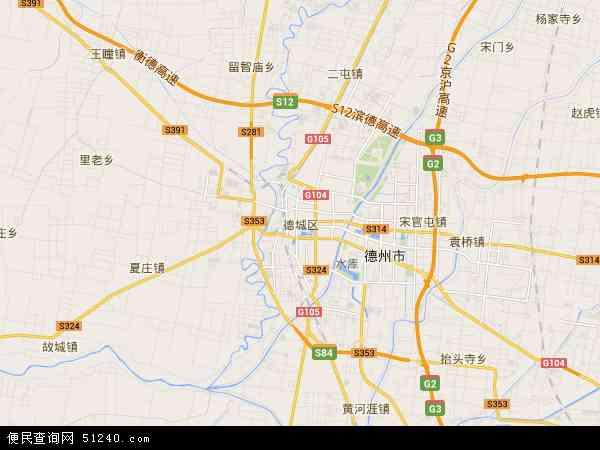 德城区地图 德城区卫星地图 德城区高清航拍地图 德城区高清卫星地图
