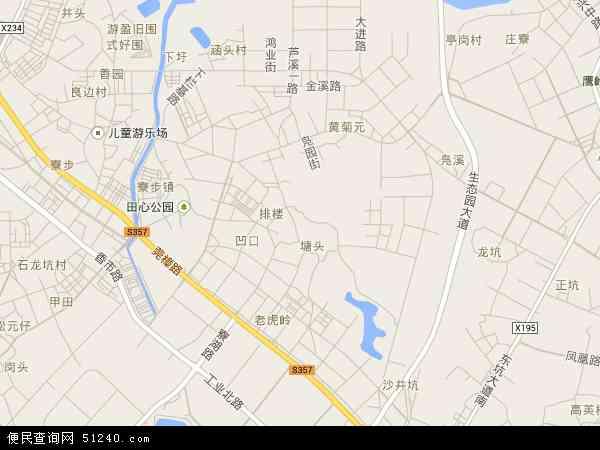 中国 广东省 东莞市 寮步镇 凫山村  凫山村卫星地图 本站收录有:2016