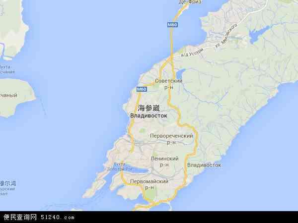 俄罗斯海参崴地图(卫星地图)