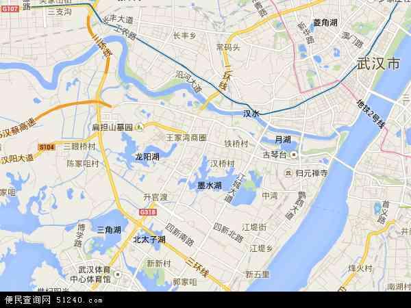 汉阳区地图 - 汉阳区卫星地图