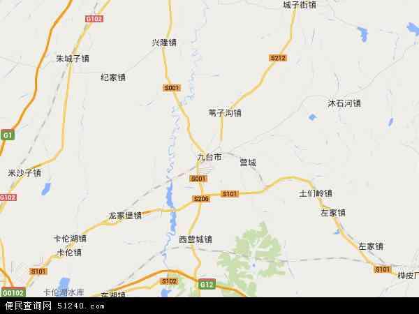 九台市地图 - 九台市卫星地图
