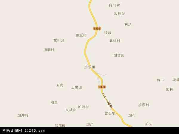 中国海南省省直辖县级行政区划澄迈县加乐镇地图(卫星地图)