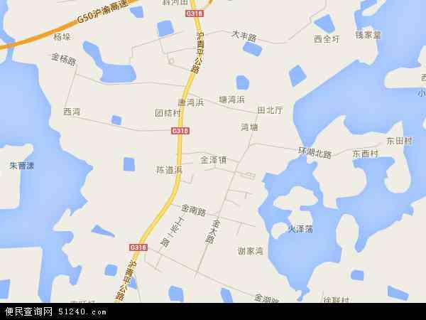 金泽镇地图 - 金泽镇电子地图 - 金泽镇高清地图 - 2017年金泽镇地图