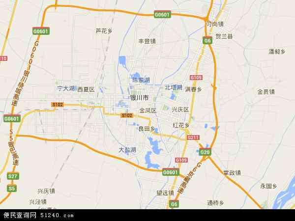 2017金凤区地形图 所辖地区:良田镇满城北街北京中路上海西路黄河东路