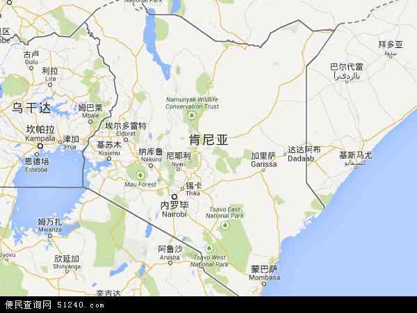 肯尼亚卡耶亚多地图(卫星地图)