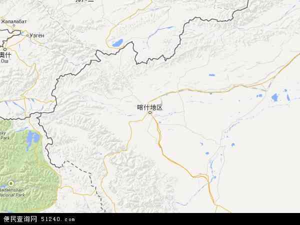 喀什地区地图 - 喀什地区卫星地图