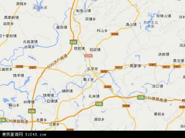 中国江西省景德镇市乐平市地图(卫星地图)