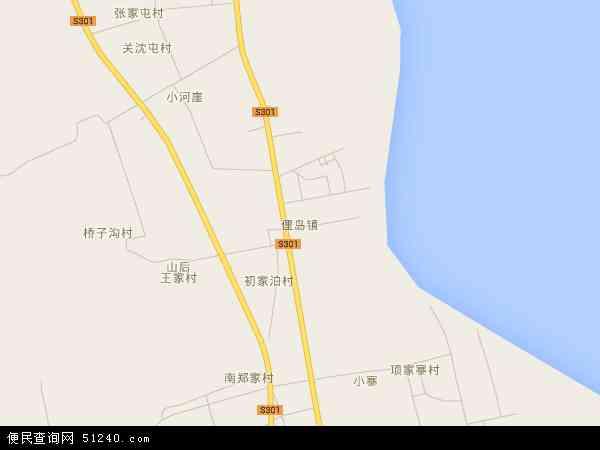中国山东省威海市荣成市俚岛镇地图(卫星地图)