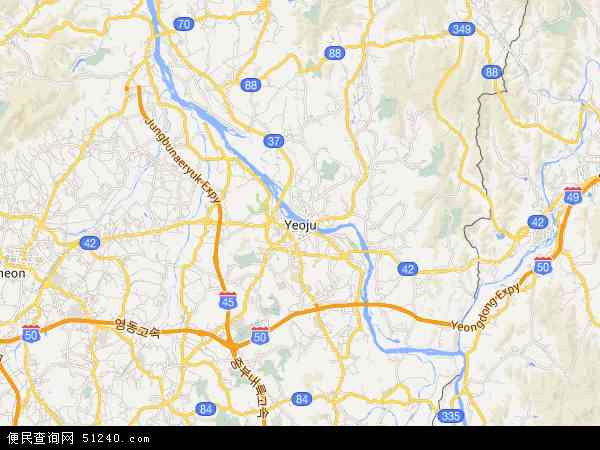 韩国京畿道骊州郡地图(卫星地图)