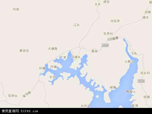 最新马铺乡地图,2016马铺乡地图高清版